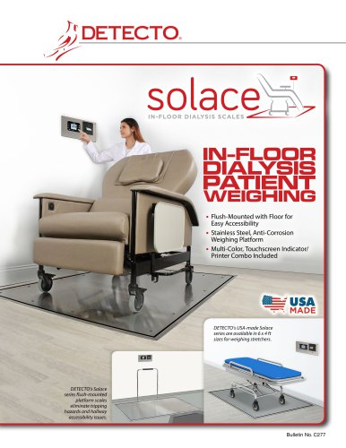 Solace In-Floor Dialysis Scale