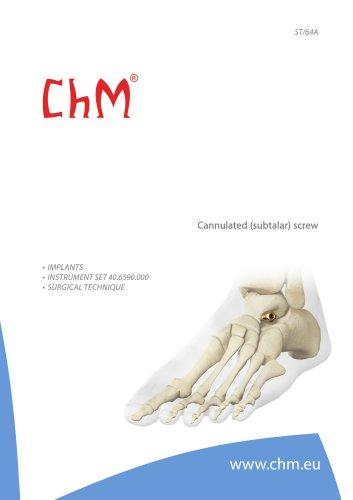 Cannulated (subtalar) screw