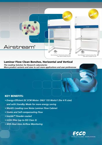Airstream® Laminar Flow Clean Benches, Horizontal and Vertical