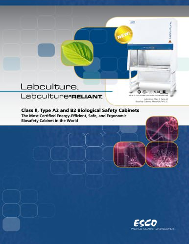 Labculture - Class II, Type A2 and B2 Biological Safety Cabinets