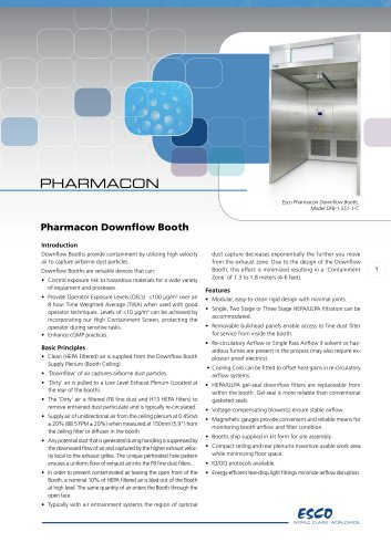 Pharmacon Downflow Booth
