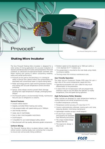 Provocell Microplate Shaker/Incubator