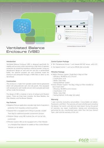 Ventilated Balance Enclosure (VBE)