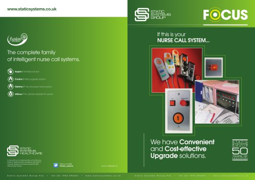 Nurse Call System Spares Catalogue Static Systems Group Pdf Catalogs Technical Documentation