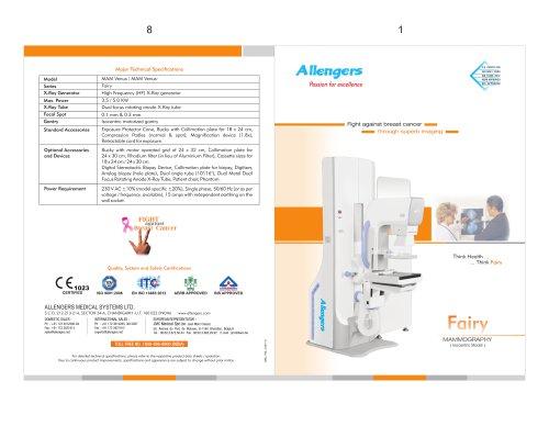 FAIRY VENUS MAM-VENUS 3.5-5KW ANALOG MAMMOGRAPHY
