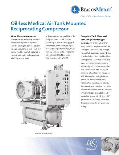 Oil-less Medical Air Reciprocating Compressors