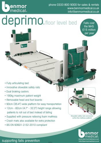 deprimo floor level bed