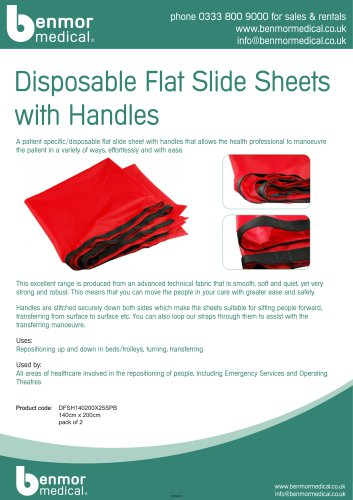 Disposable Flat Slide Sheets with Handle