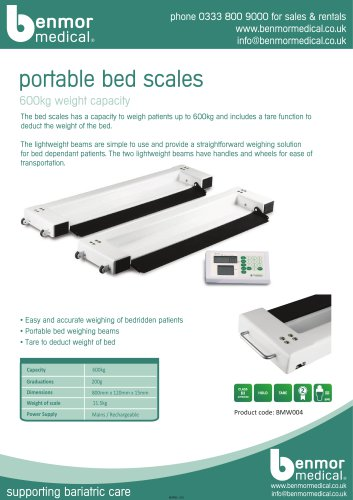 portable bed scales