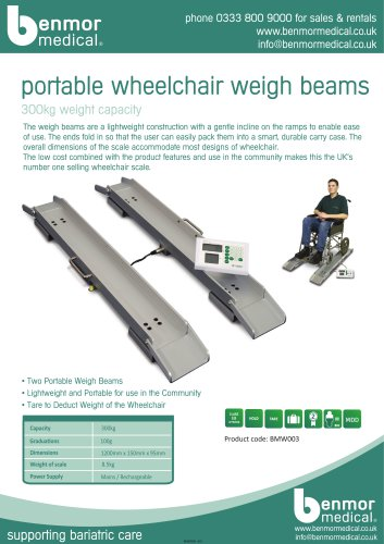 portable wheelchair weigh beams