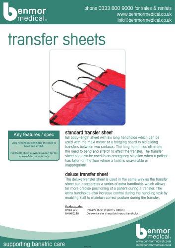 transfer sheets
