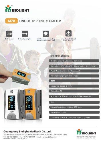 M70 pulse oximeter