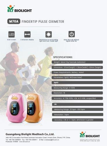 M70A pulse oximeter