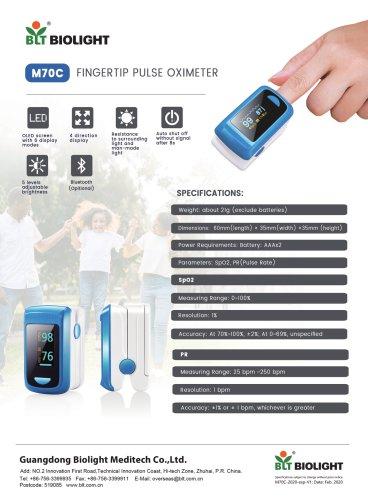 M70C pulse oximeter