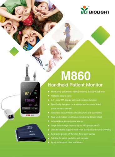 M860 handheld patient monitor-NIBP and SpO2