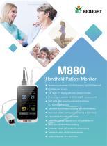 M880 handheld patient monitor-EtCO2 and SpO2