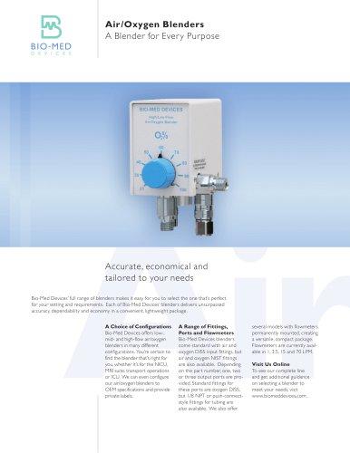Air/Oxygen Blenders