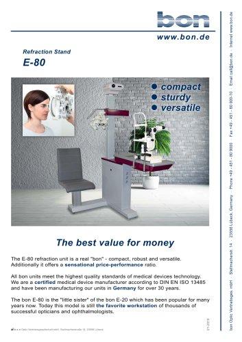 Refraction Stand bon E-80 - The best value for money