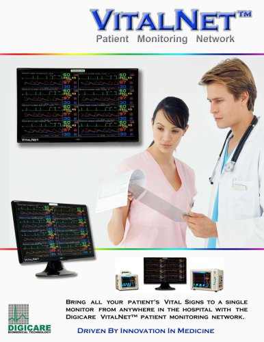 Wireless Central Monitoring System VitalNet