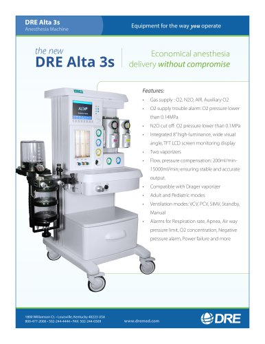 DRE Alta 3s Anesthesia System