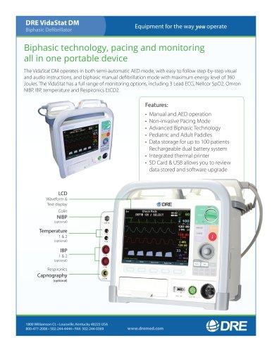 DRE VidaStat DM Biphasic Defibrillator with ECG Monitoring