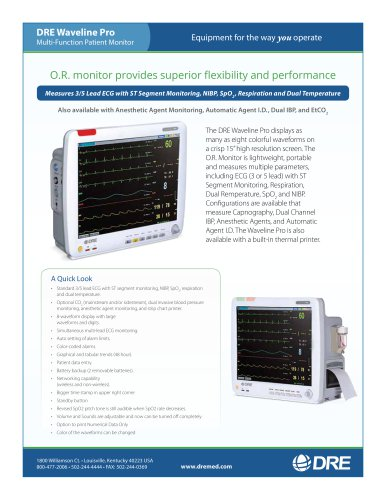 DRE Waveline Pro Multi-Function Patient Monitor