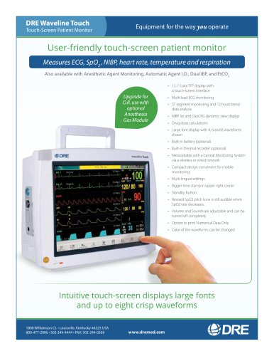 DRE Waveline Touch-Screen Patient Monitor