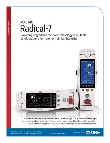 Masimo Radical 7 Signal Extraction Pulse CO-Oximeter with Rainbow Technology