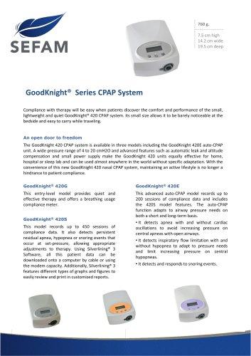 GoodKnight®  Series CPAP System