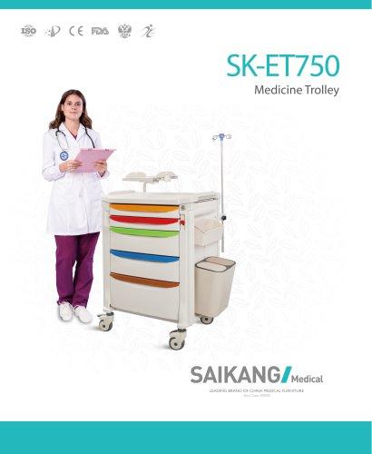 SK-ET750 Medicine-Trolley_SaikangMedical