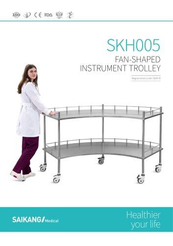 SKH005 Fan shaped Instrument Trolley SaikangMedical