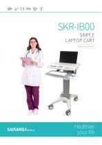 SKR-IB00 Simple-Laptop-Cart_SaikangMedical