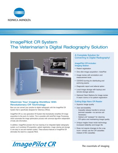 ImagePilot CR System The Veterinarian?s Digital Radiography Solution