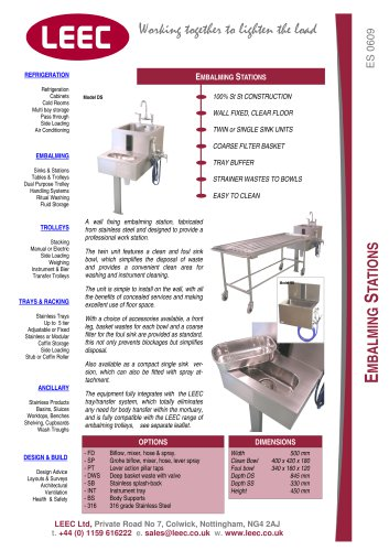 embalming station