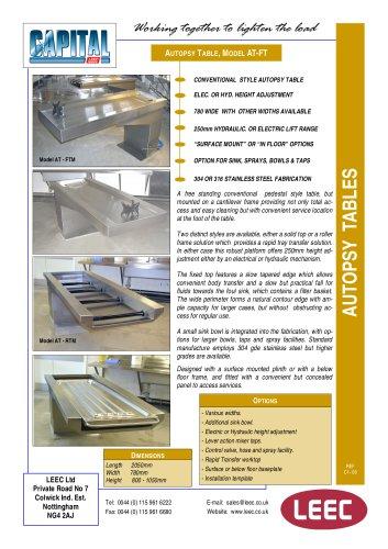 LEEC Autopsy tables brochure