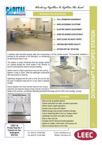 the LEEC Post Mortem Extraction Station brochure