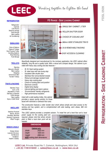 refrigerated side loading cabinet