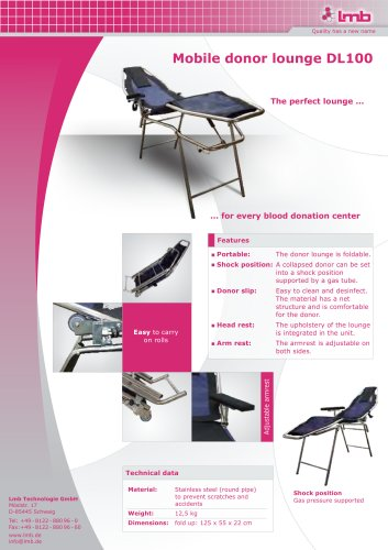 Peachy Mobile Donor Lounge Lmb Technologie Gmbh Pdf Catalogs Gmtry Best Dining Table And Chair Ideas Images Gmtryco