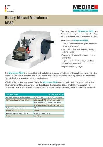Rotary Manual Microtome M380