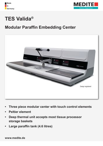TES Valida® Modular Paraffin Embedding Center
