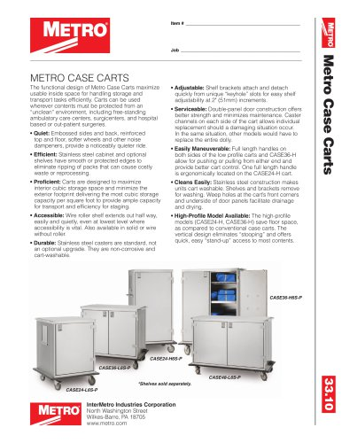 Case Cart SPEC SHEET