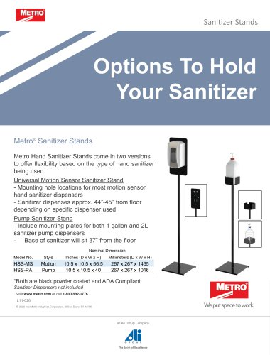 Sanitizing Solutions Sanitizer Stands