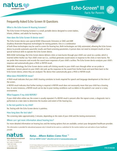 Echo-Screen® III Facts for Parents