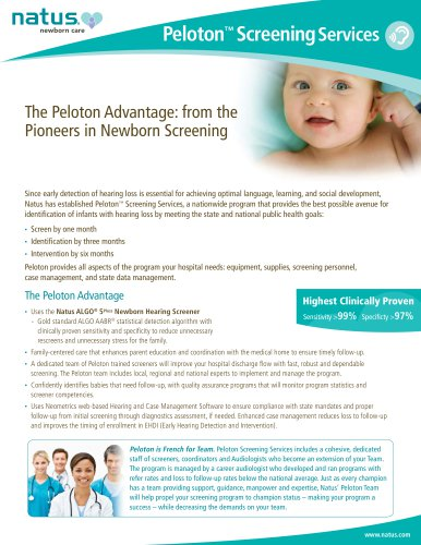 Peloton ™ Screening Services