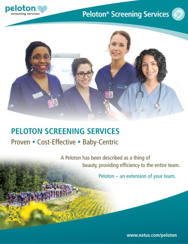 PELOTON SCREENING SERVICES Proven  Cost-Effective  Baby-Centric