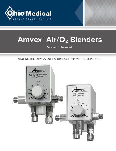 Amvex®  Air/O2 Blenders
