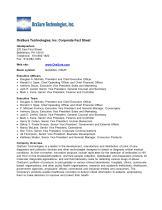 OraSure  Technologies,  Inc.  Corporate  Fact  Sheet