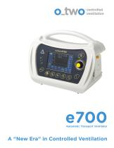 "Automatic Transport Ventilator e700 A ""New Era"" in Controlled Ventilation - 1"
