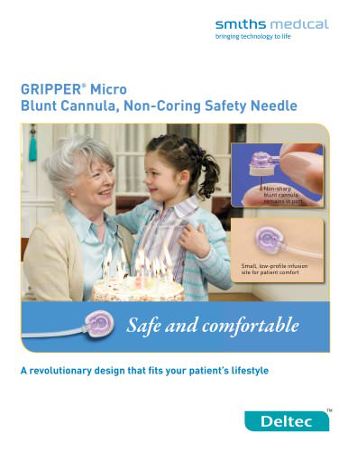 GRIPPER® Micro Blunt Cannula, Non-Coring Safety Needle