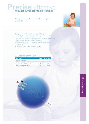 Wallace amniocentesis needle